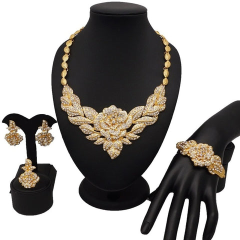 Image of dubai gold jewelry women fashion necklace fine jewelry sets women necklace 24k gold new design necklace