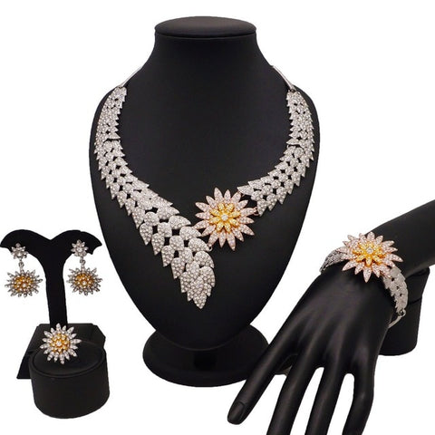 dubai gold jewelry women fashion necklace fine jewelry sets women necklace 24k gold new design necklace