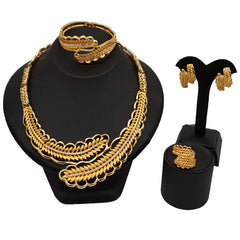 Image of fashion women necklace set african bridal jewelry SETS snap button jewelry charms for jewelry making wedding sets