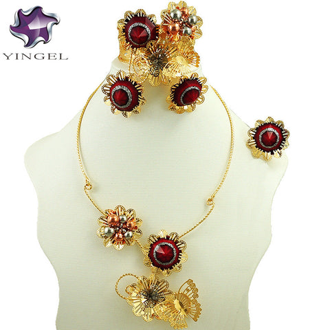 gold colour necklace jewelry sets fine jewelry sets  fashion jewelry set women necklace african bead jewelry