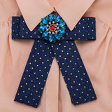 i-Remiel Denim Bow Tie Outfit Brooch Womens Tops and Blouses Cravat Bowties Womans Clothing Fashionable Shirt Collar Accessories