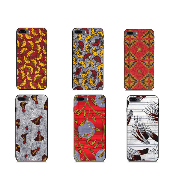 iPhone8 Mobile phone shell African Phone case Ankara Print Wax print Phone Case Can be Customized photo Silicone Phone Case