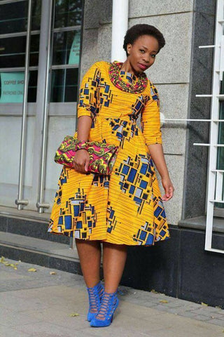 African party dress, ankara print, African clothing,