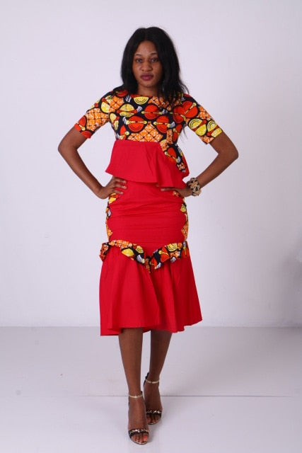401d4eeed5e in stock african clothes for women knee-length suit Dashiki african ...