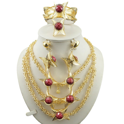 india women big necklace gold jewelry sets high quality african big  jewelry sets fine jewelry sets wedding necklace