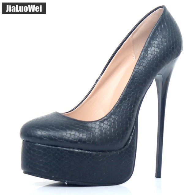 9386459407 Hover to zoom. PrevNext. Image of jialuowei Women Platform Pumps Fetish Extreme  High Heels 16cm Stiletto Thin ...