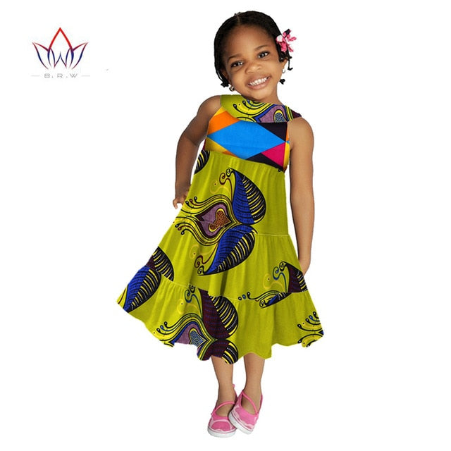 e8c3ee11c7 ... kids african clothing DashikiTraditional Summer Dresses Matching Africa  Print Dresses girl Summer cotton cloth sleeveless WYT09 ...