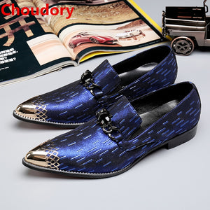 Men's Shoes Velvet Fabric With Fox Head Diamond Buckle Banquet Mens Shoes Mens Pointed Toe Dress Shoes Formal Shoes