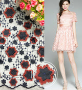 mylb Coloured polyester water-soluble lace fabric multicolored weeds mesh cloth embroidery lace DIY gauze dress cloth