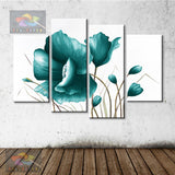 oil painting abstract oil painting Poppy flowers painting living room bedroom restaurant use Decorative Painting FL4-096