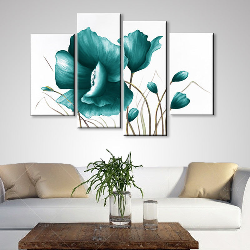 oil painting abstract oil painting poppy flowers painting living