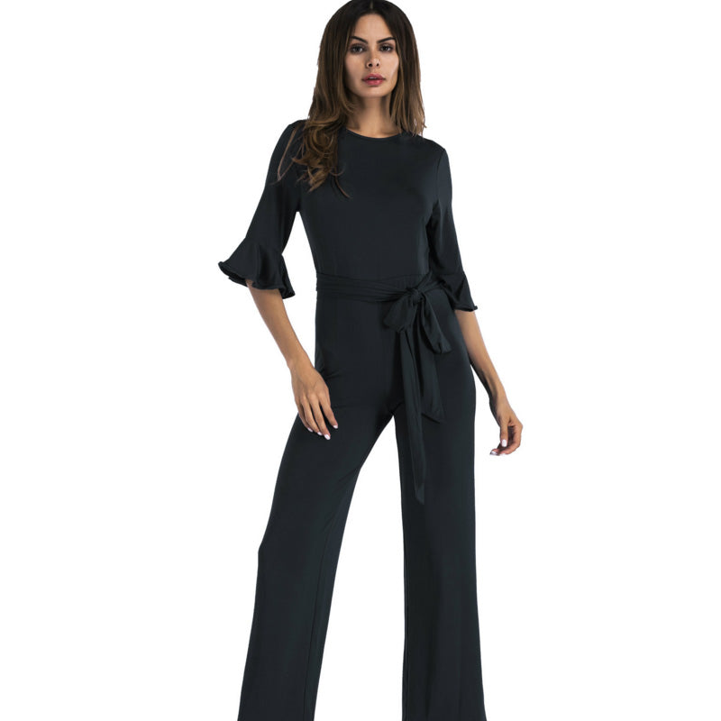 4482f943b19 ... plus size black blue red green wide leg One Piece jumpsuit women  clothing slim Casual party ...