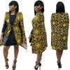 Image of women's trench coat outerwear duster dark gold slim print sleeveless fashion sexy top clothing long woman cloak