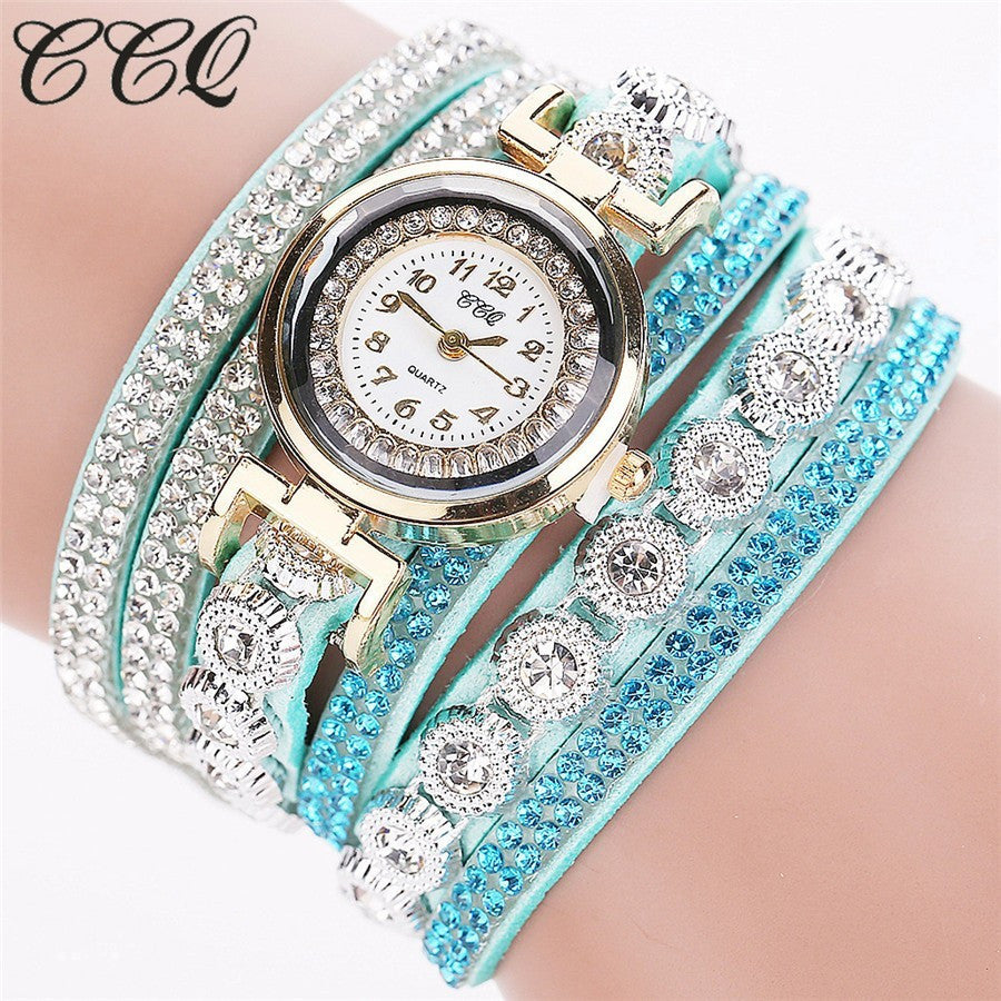 Women Luxury Watch Full Crystal Wrist Quartz Watch - Owame