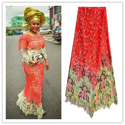 5 yard High quality African Cord lace fabric - Owame