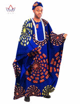 African Men's Custom Clothing Long Sleeve Men Loose Thobe Robe with embroidery Dashiki Men Loose Top African-002