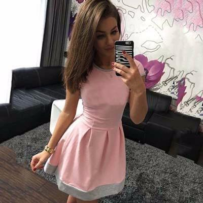 2017 Women's Short  Sleeve Dress