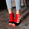 Image of Women Open Toe Zip High Heel Sandals Pump Shoe Plus Size 33-43 - Owame