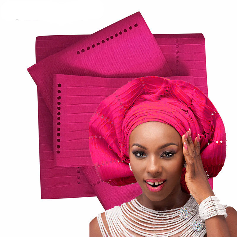 3Pcs  Top Quality African Traditional GELE ASO OKE - Owame