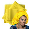 Image of 3Pcs  Top Quality African Traditional GELE ASO OKE - Owame
