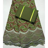 2017 High quality African swiss voile + Free Matching aso oke headtie