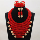 African Luxury Statement  Beads Necklace Set - Owame
