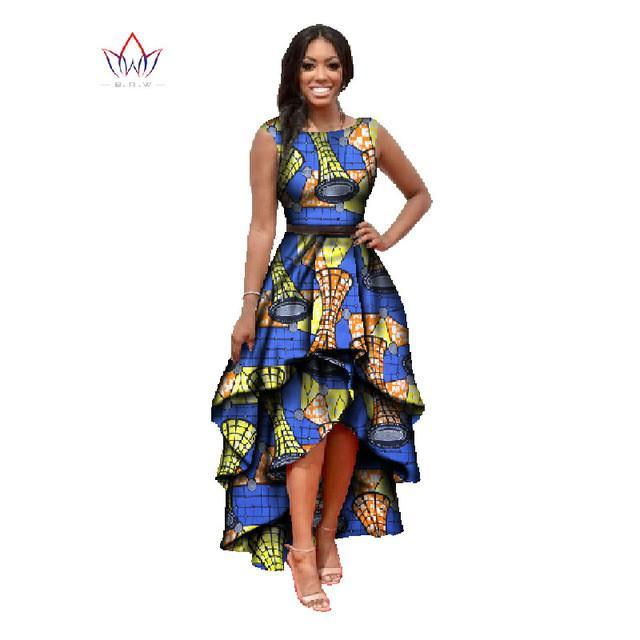 2017 African o-neck dress for women