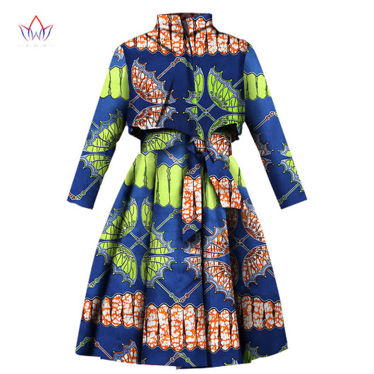 African Trench Coat for Women, African Clothing Africa Print Outfits, Dashiki Office Outwear Dress