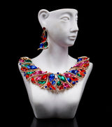 african jewellery sets for women, engagement necklace and earrings sets-0W-56