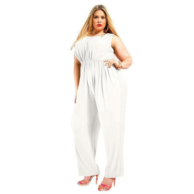 2016 Hot New Brand Summer Plus Size Maxi 5XL Overalls Women Rompers Jumpsuit Overalls Sexy Backless Patchwork Full Length Pants