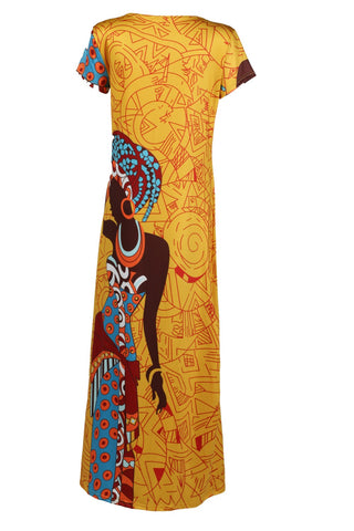 African Print maxi long  gowns dress