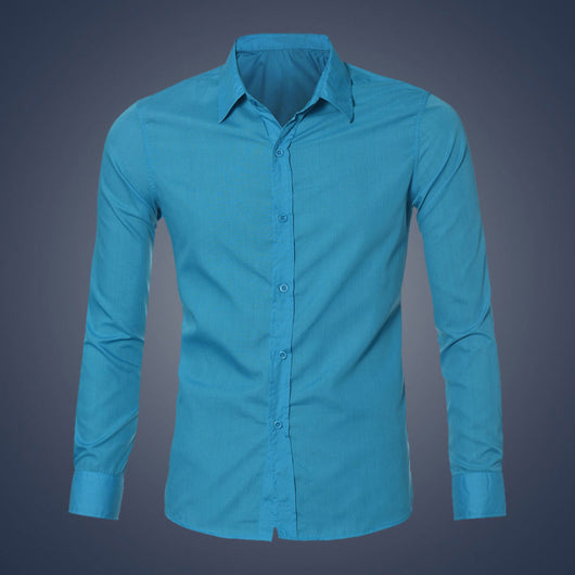 Fashion Mens Stylish Casual Dress Slim Fit Shirts Casual Long Sleeve 4 Colors M-XXL Size Men Shirts