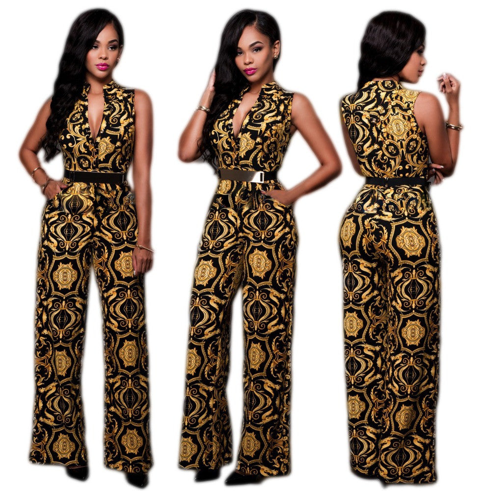 Bohemia African Print dress and Belt - Owame
