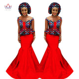 Traditional African Already Made Clothing 2 Piece Print Skirt and Blouse Set - Owame
