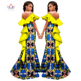 African Women Long Strapless Dresses - Owame