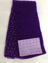 5 Yard High quality guipure lace beaded lace fabric for dresses - Owame