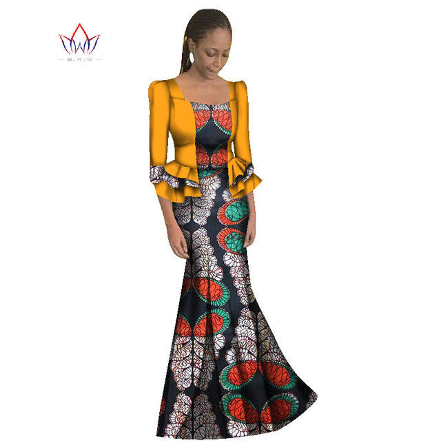 Already Made Ankara - 2017  African Women Traditional Dress With Coat - Owame