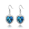 Image of Ocean  Blue Rhinestone Pendant Necklace and Earrings Set - Owame