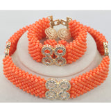 Fashion Man Long Design Coral Beads Sets Nigerian African Wedding/Party Man Beads Necklace Jewelry Set, Big bold african jewelry Set,Large Orange Coral Bead Set/African Wedding Coral Bead Set/ Nigerian Bridal Beads Sets/African Coral Beads Sets