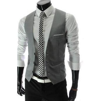 2017  Real Worsted Acetate The New Men's Fashion Leisure Suit Vest / Wedding Banquet Gentleman With V-neck Men Free Shipping
