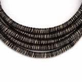 "14"" 5 layer multi strand row coil choker collar necklace bib bohemian style, Kardashian Naomi Campbell Collar Necklace"