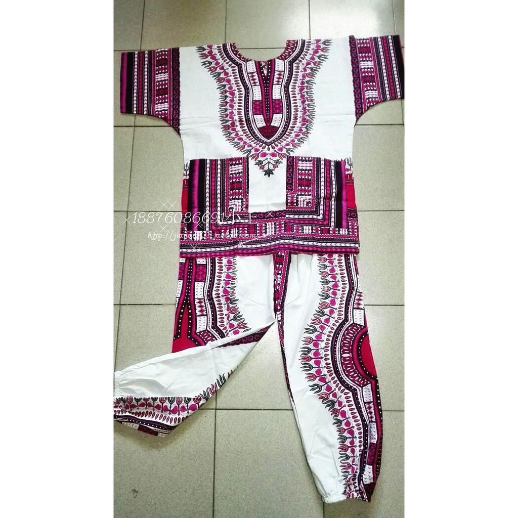 2017 New african cotton Dashiki dresses suit T-shirt and pants for Adult african traditional clothing bazin riche 041802