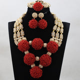 Exclusive Custom Luxury Beaded Statement Necklace Set - Owame