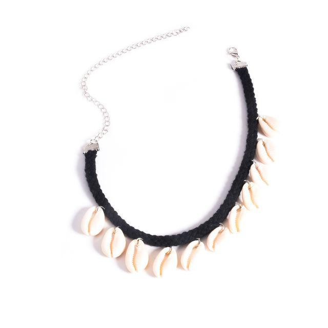 2016 New Fashion Bohemian Women Cowrie Shell Choker Necklace Collar Gypsy Boho Beach Festival Jewelry O-196