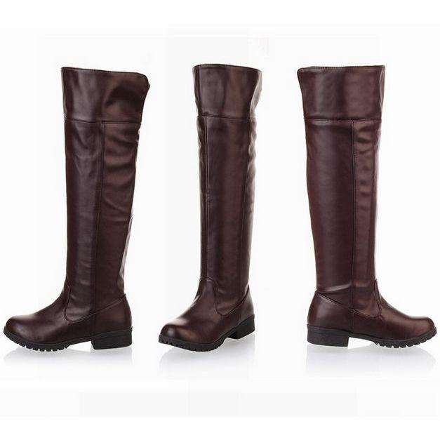 2017 women Attack on Titan cosplay long boots Shingeki no Kyojin Over-the-Knee boots Eren Jaeger Ackerman Shoes 6501