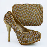 Italian High Heel Shoes With Matching Bags Set For Wedding - Owame