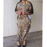 Dashiki African New Fashion Suit (Dress and Trousers) Bat Sleeve Leopard Elastic dress