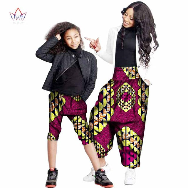 Mommy and daughter Matching Ankara pant,Mother,Daughter African Clothing Ankara Women Outfit Plus Size pant African Gift For Her,African Family Matching Clothes Mother and daughter loose pants african Family clothing