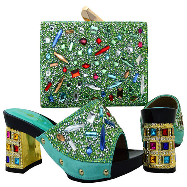 italian Handmade Shoes with Matching bags Set for Wedding - Owame