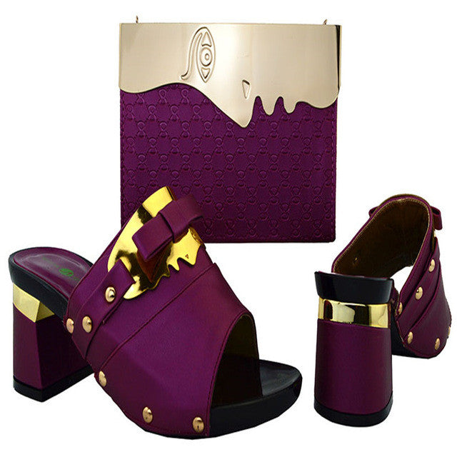 High Quality Italy Matching Shoe And Bag Set - Owame